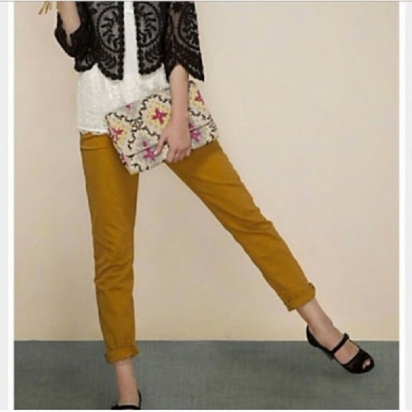 Anthropologie Denim - Pilcro and the Letterpress Hyphen Yellow Jeans